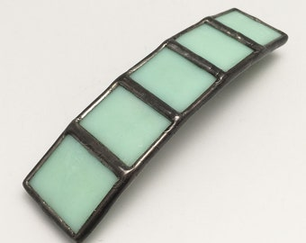 Mint Chocolate - Large Stained Glass French Barrette