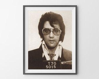Elvis Presley Mugshot Poster Print Photograph REMASTERED