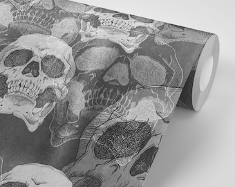 Skull Wallpaper Etsy