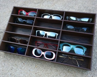 Etonnant 15ct Sunglasses Display Sunglasses Organizer Sunglass Storage Rack Stand Case  Box Drawer Eyewear Holder Sunglass Shelf HANDMADE In Tx
