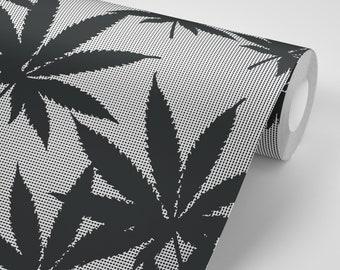 Behang Met Patroon : Behang marihuana cannabis onkruid en gewrichten behang patroon etsy