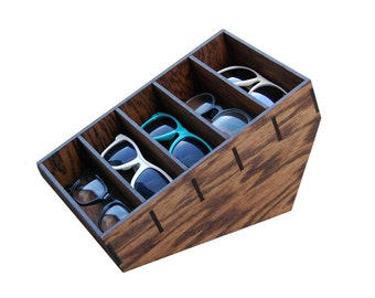 5ct Sunglasses Organizer Rack Sunglasses Display Storage Custom Glasses Case  Drawer Organize Stand   HANDMADE In Tx