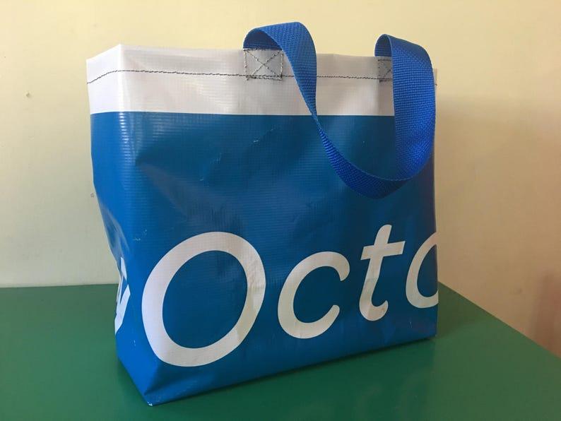 market tote Upcycled vinyl shopping bag