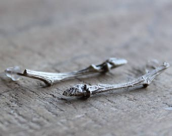 On sale today-Twig drop earrings -Silver earrings -Branch earrings -Twig jewelry -Minimal earrings -Nature earrings -Silver branch earrings