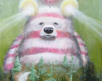 Bear Print - Fine Art - Prints - Surrealism - Art - Artwork - Lighthouse - Lake - Ocean - Nature -