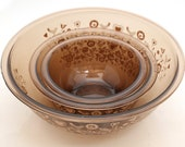 Vintage Pyrex Brown Glass Mixing Bowls