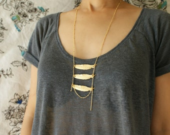 layered feather statement necklace boho layered feather statement necklace gift her her
