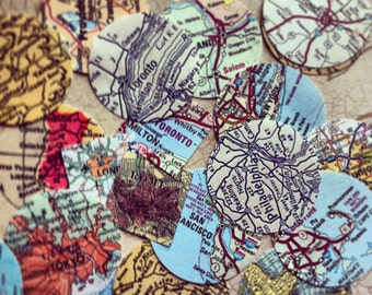 Personalized maps ONLY - Add two maps to the Square or Oval beveled glass locket