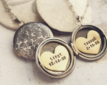Personalized Necklace, custom name, Mothers day gift, Hand Stamped Jewelry, Personalized Jewelry, Gift for Grandma, gift for new mom