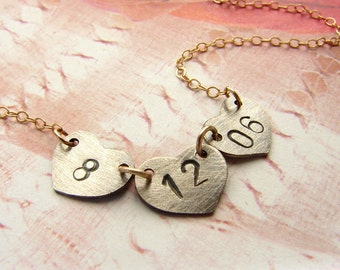 Personalized jewelry, Bridal necklace, wedding date necklace, bridal jewelry, Personalized date necklace, gift for bride, mom gift
