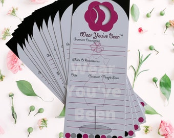 Wear You've Been® Hanger Tags - Just the cards! 20 (no gift box)