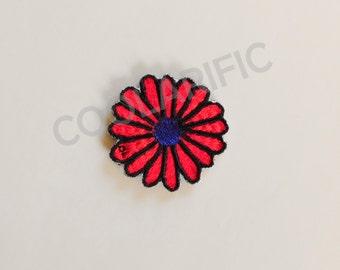 Red Flower Sticker Patch