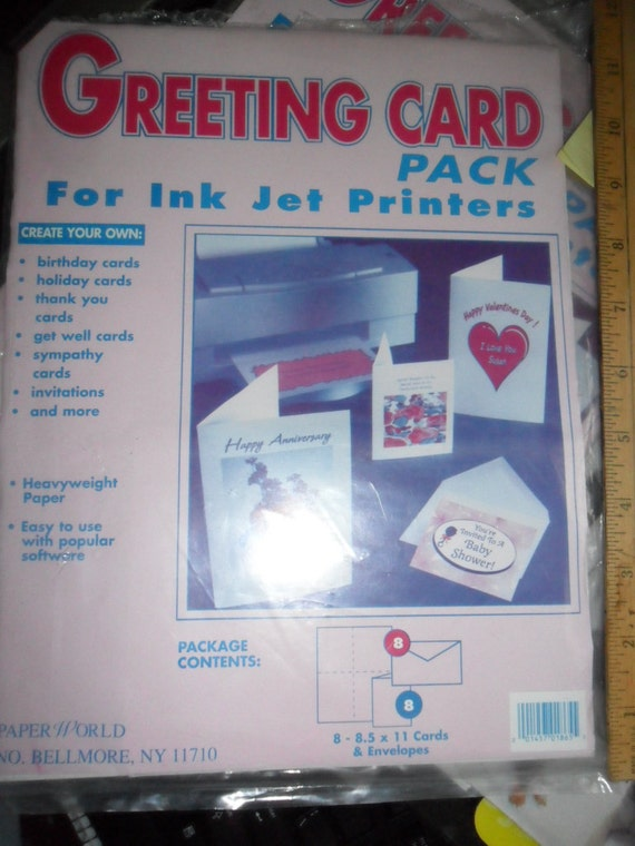Never used greeting card pack for ink jet printers etsy image 0 m4hsunfo