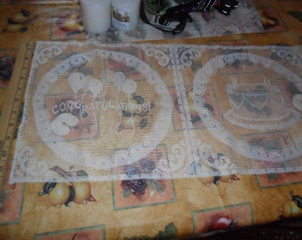 5 Vintage Lace Pillow Panels - Each different - Congratulations - Birthday, etc.