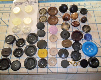 Just Reduced - OLD Vintage Button lot - Coat buttons - at least 45+