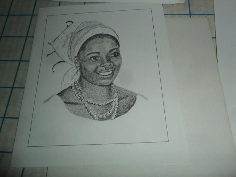9 Vintage Pencil Drawn Cards by Joyce Ecklund Brancel wpermission by Don Collinson from his Photos