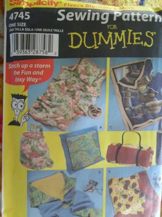 Simplicity Pattern 4745 Never Used Sewing For Dummies