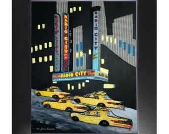 Radio City- Printed Image Nyc New York City Music Hall Rockettes- Framed Contemporary Art Print 8x10, 11x14, 16x20, 18x24 - Made To Order