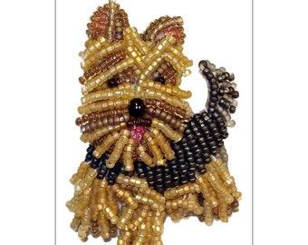 YORKIE- 4x6 Postcard- Yorkshire Terrier Dog Art- Original Artwork Printed Image  (Made To Order)
