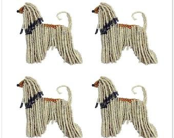 "AFGHAN HOUND Set Of 4 Dog Stickers -Original Artwork Kiss Cut 5x5"" Sticker Sheet - Notebook Laptop Water Bottle Sticker - Made To Order"