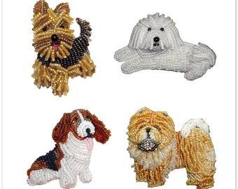"YORKIE & Friends- Set Of 4 Dog Stickers- Chow Chow Bichon Kiss Cut 5x5"" Sticker Sheet- Notebook Laptop Water Bottle Sticker- MADE To ORDER"