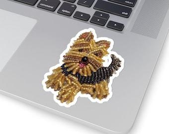 YORKIE- Yorkshire Terrier- Original Artwork Kiss-Cut Dog Sticker- Laptop Sticker, Water Bottle Sticker, Animal Sticker- MADE to Order