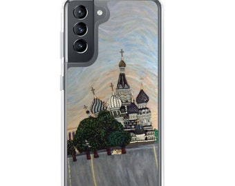 Red Square- St. Basils Cathedral Moscow Russia Printed Image- Samsung Galaxy Case- S10, S10+, S10e, S20, S20 U, S21- MADE to ORDER