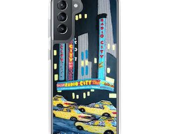 Radio City- NyC New York City Music Hall Rockettes Art Print Samsung Galaxy Case- S10, S10+, S10e, S20, S20 U, S21- MADE to ORDER