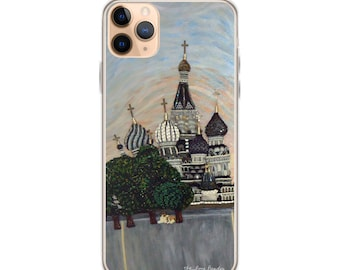 Red Square- Moscow Russia Art Print Printed Image iPhone Case- iPhone 12 Pro iPhone 11 iPhone X iPhone 7/ 8 iPhone SE - MADE To ORDER
