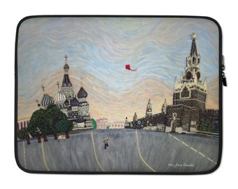 """Red Square - Moscow Russia Russian Art Print Printed Image 13"""" or 15"""" Designer Laptop Cover or MacBook Sleeve - MADE TO ORDER"""