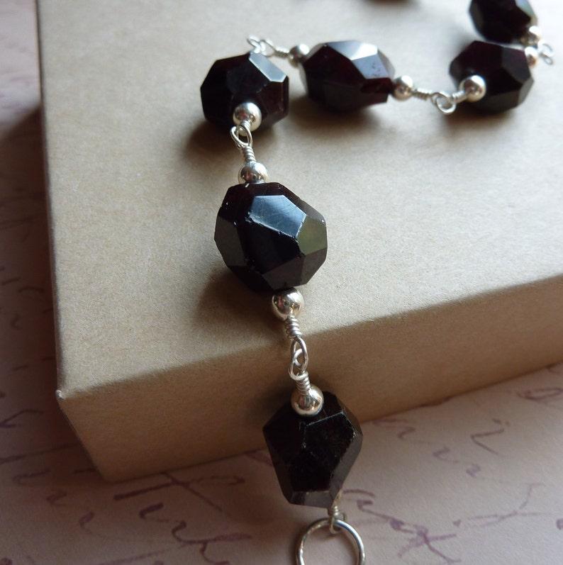 Garnet Nugget Bracelet with Silver image 0