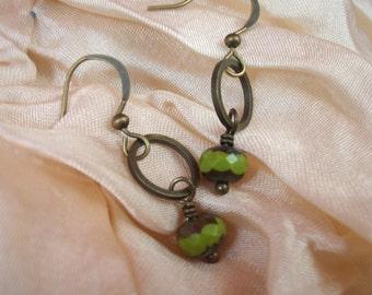 Spring Green on Brass Ring