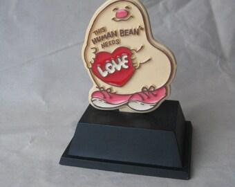 Human Bean Needs Love Figurine Plastic Vintage