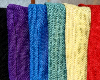 Handwoven Bamboo Washcloth, Assorted Colors