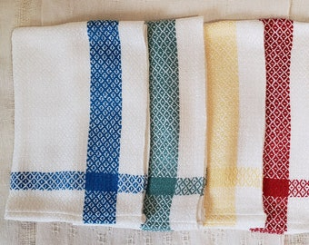 Handwoven Bamboo Hand Towels, Assorted Colors