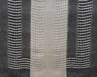 Silver and Black Shawl, Handwoven Lace, Bamboo Yarn