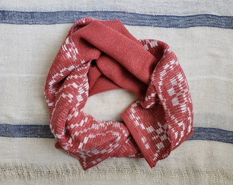 Pink Vines Handwoven Bamboo Scarf