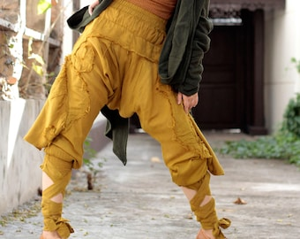Pants/Funky harem pants...Mix silk (3 sizes M,L,XL) 1128