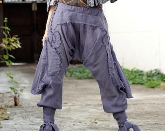 Pants/Funky harem pants...Mix silk (photo colour No.19 lavender)(3 sizes M,L,XL)   [1128]