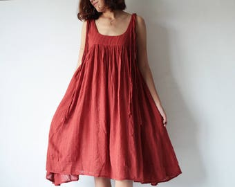 Dress/Sun dress 100%  cotton dress  (fit all size) (1446)