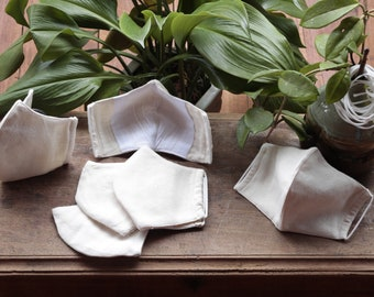 5 pieces in one pack  Mask with filter pocket Masks 100%  Cotton three layer No.03 ready to ship today.