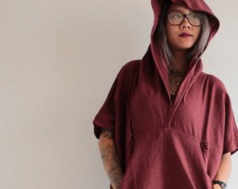 Hoodie Blouse/tunic...All color Linen/cotton S,M,L, 1422
