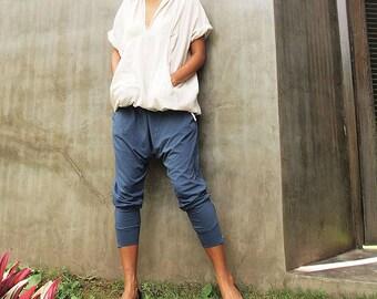 Pants..Funky pants...Jersey cotton Blue Gray ( M,L,XL) (1412)