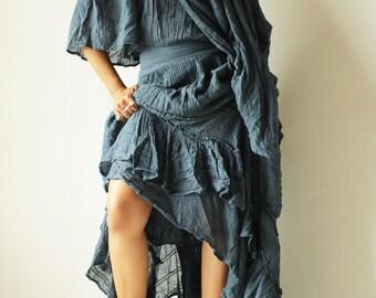 Asymmetric gypsy dress ... hippie, boho, elegant