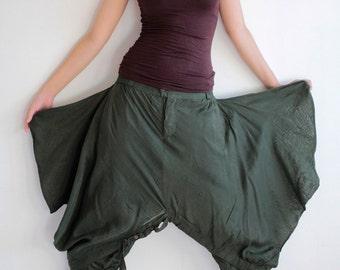 Pants/Hippie funky Skirt over pants...No.15 mix silk( GP-355)