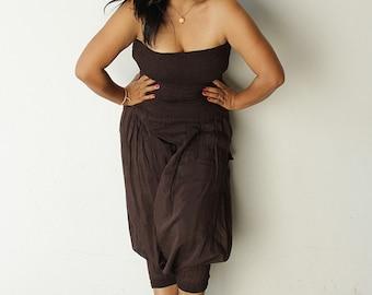 Jumpsuit /Tube top jumpsuit mix silk... all colour (one size fits S-L) 1290