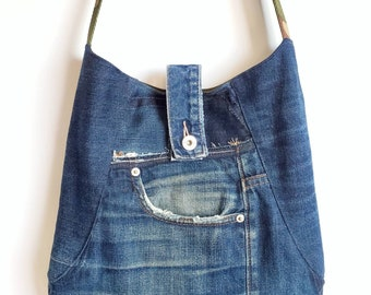 Shoulder Bag. Upcycled Bag. Denim Bag. Camo Bag. Recycled Denim. Repurposed Denim. Camouflage. Grunge. Vegan Bag. 90's Bag. Camouflage.