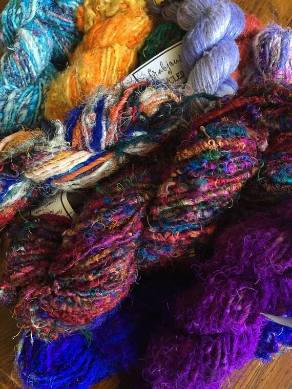 Recycled Sari Yarn Placid Blue