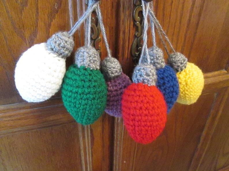 Crochet Christmas Light Bulb Ornament Decoration