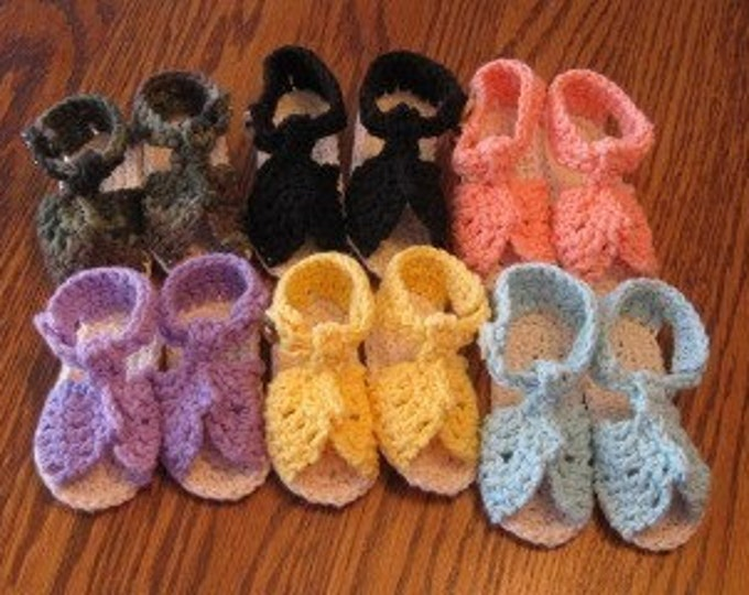 Crocheted sandals- you choose color(s)